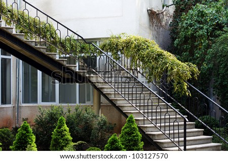 Spring time: outdoor steps