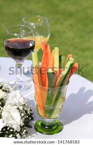 spring vegetable still life
