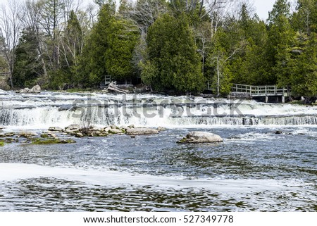 Spring View of Sauble Falls Ontario