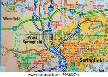 Springfield United States Map Stock Photo (Edit Now) 749852746 ...