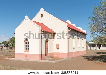 SPRINGFONTEIN, SOUTH AFRICA - FEBRUARY 16, 2016: An historic old church in Springfontein in the Free State Province of South Africa