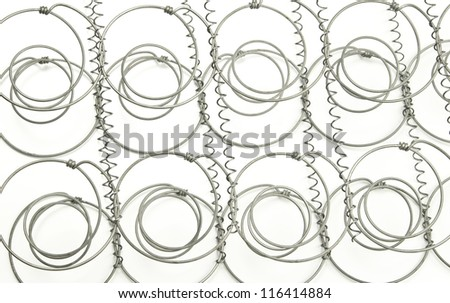 Springs from inside a mattress - stock photo