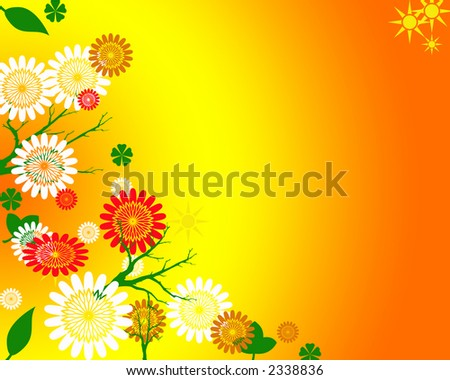 springtime floral background illustration bright