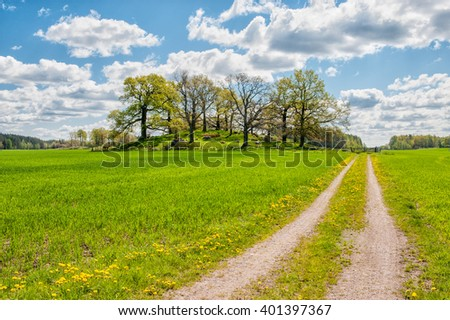 Springtime in the countryside of Ostergotland, Sweden
