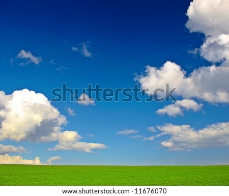 Springtime in the countryside - pure harmony - stock photo