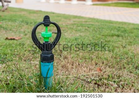 Sprinkler valve - stock photo
