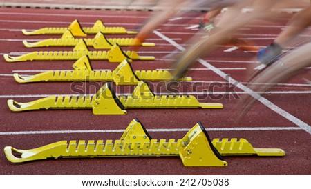 Sprint start - stock photo