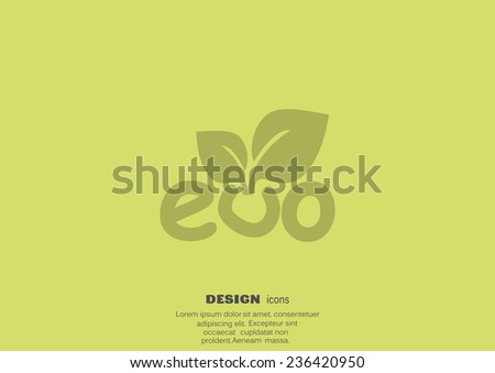 sprout eco sign, web icon.  - stock photo