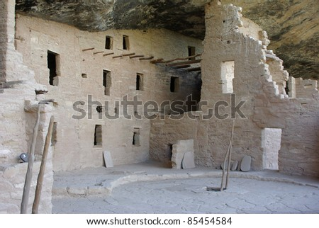 Spruce Tree House at Mesa Verde National Park in Colorado, US - stock photo