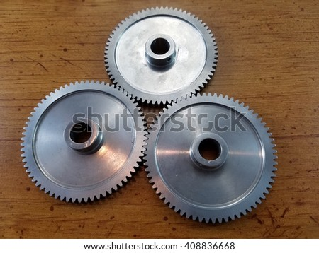 spur gears wood back ground