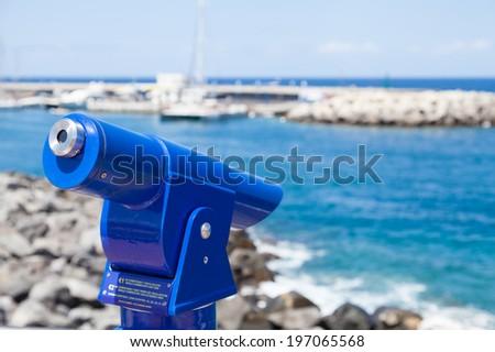 Spyglass - stock photo