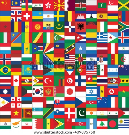 square background with some of world flag icons