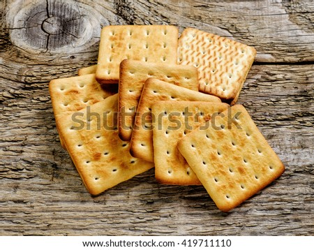 square biscuit cracker - stock photo