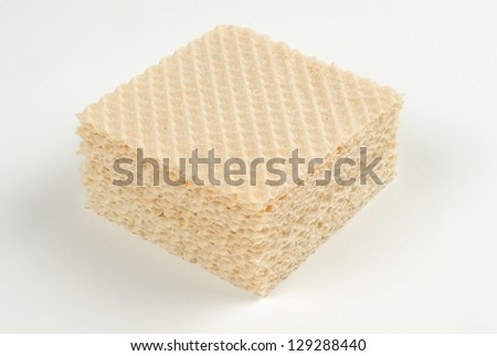 Square biscuits or wafers