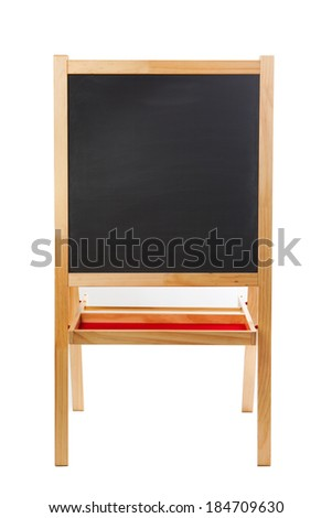 square blackboard isolated on white