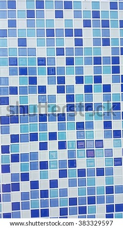 Square blue and sky color shape pattern