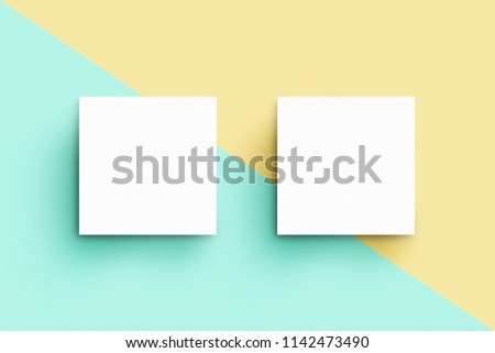 Square Business Card Template Stock Illustration - Square business card template