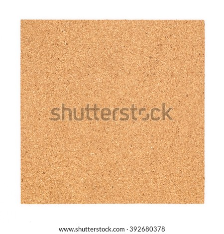Square cork board. Isolated on white background.