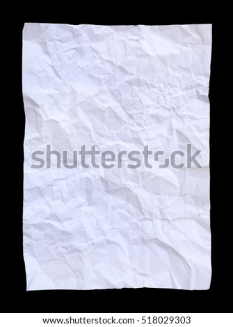 square crumpled paper on a black background.