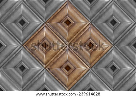 Square decorative tile with volume drawing and texture of skin, the tile which is laid out in a pattern, nobody. - stock photo