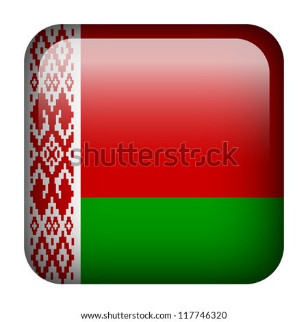 Square flag button series - Belarus - stock photo