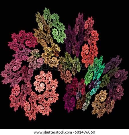Разноцветное деревце