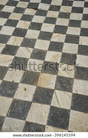 square, gamero textured floor or chess, nineteenth century, grungy texture and old - stock photo