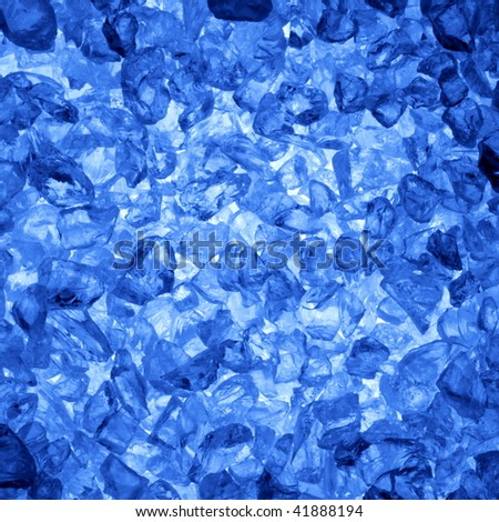 square ice cubes background in blue for summer drinks - stock photo