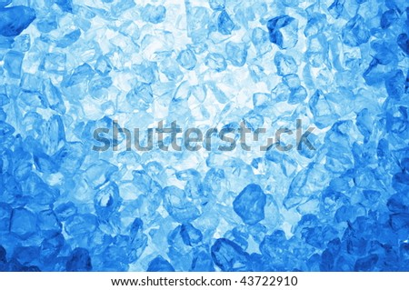 square ice cubes background in blue for summer drinks