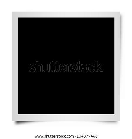 Square Instant Photo Frame. - stock photo