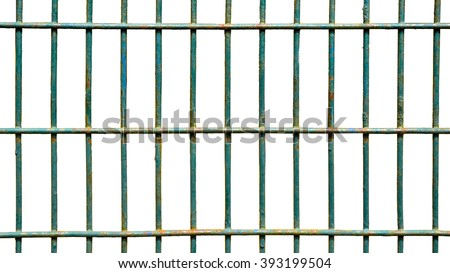 Square iron cage isolate on white background - stock photo