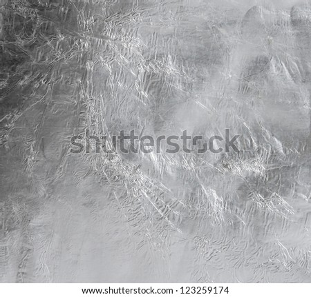 Square list of thin foil paper - stock photo