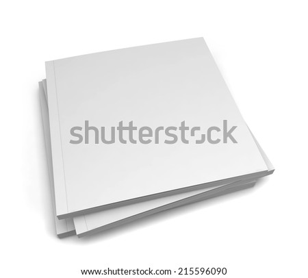 Square magazine. 3d illustration isolated on white background  - stock photo