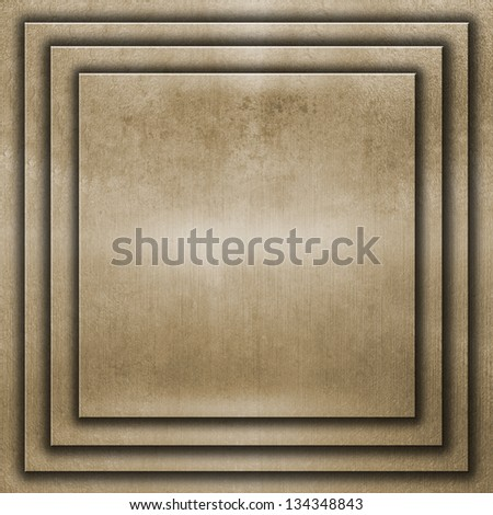 square metal plate on grunge background