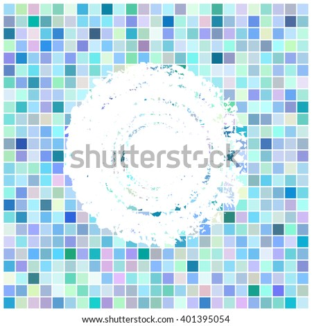 Square mosaic retro background. Abstract colorful cover. Design frame. Raster version.  - stock photo