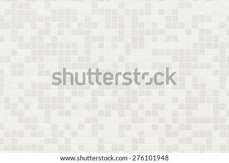 Square mosaic tiles random color texture with white filling - stock photo