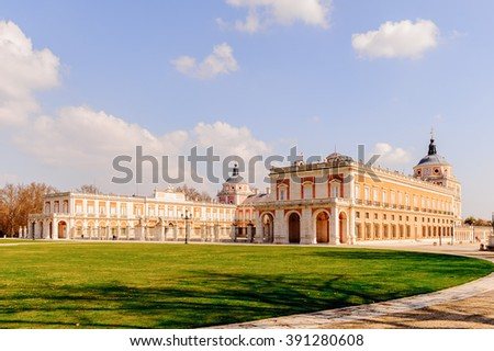 Square near the Palacio Real de Aranjuez, Spain