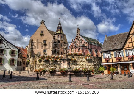 Square of Eguisheim, France