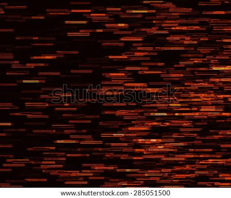Square orange vivid 8-bit pixel dot interlaced space stars blast teleport abstraction background backdrop - stock photo