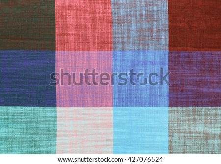 square pattern fabric, checkered fabric for background - stock photo