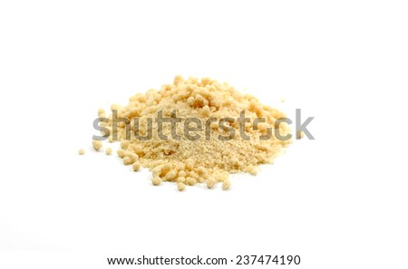 square pile of Ginger powder on white - stock photo