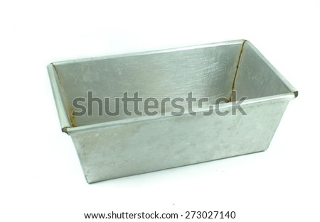 square silver box isolated on a white background - stock photo