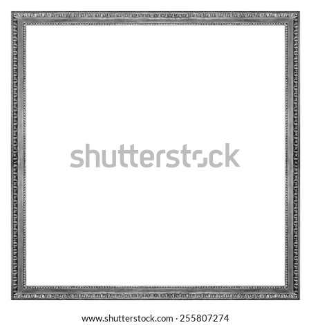 Square Silver Wooden Picture Frame Isolated on white background
