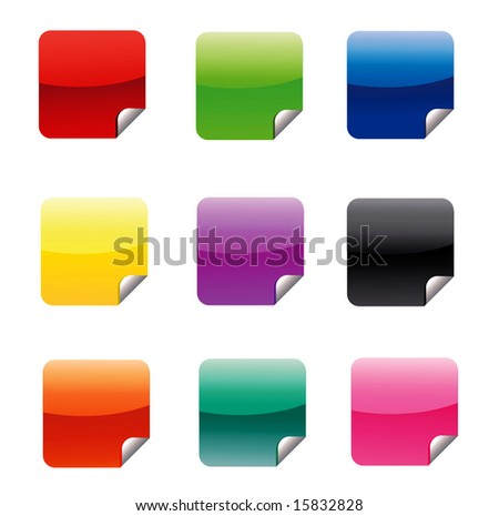 Square Stickers JPEG (Please see my portfolio for vector version)