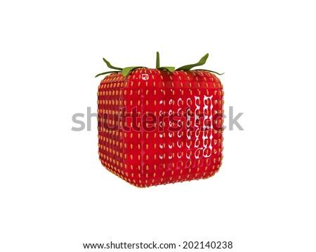 Square strawberry - stock photo