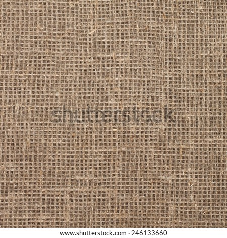 square texture of woven sacking, hessian, burlap  - stock photo