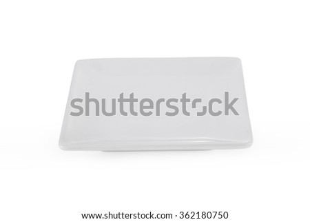 square white plate on white background