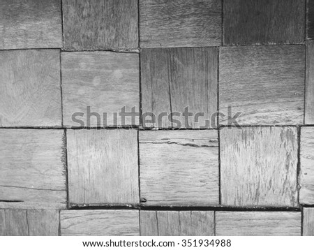 Square wooden wall.