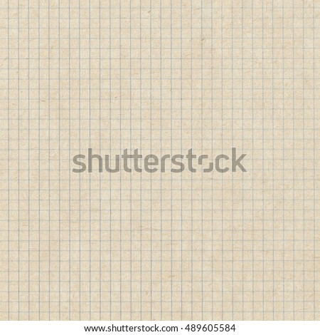 Squared light brown copybook, notebook paper texture
