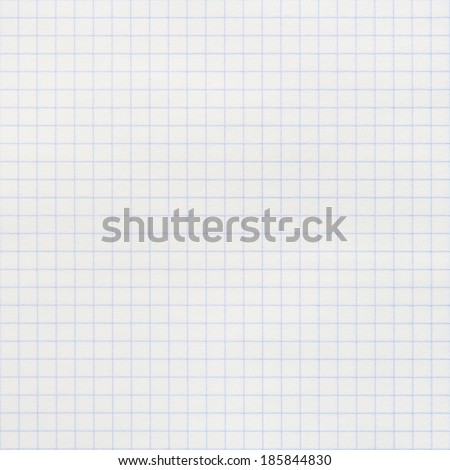 squared notebook paper - stock photo